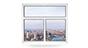 двухстворчатое окно с фрамугой